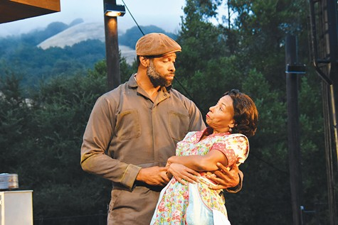 TARGETED: Aldo Billingslea and Margo Hall, seen here in Cal Shakes' 2016 'Fences,' experienced ugly responses to their Fund for Black Theatre appeal.