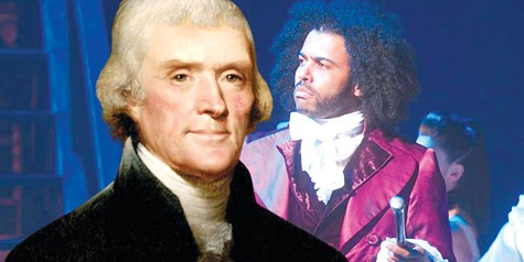 COMPARE AND CONTRAST: Daveed Diggs as Thomas Jefferson and the actual Thomas Jefferson.