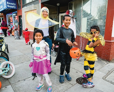 NO TRICKS, BUT TREATS: Kids won't have to put in as much shoe-leather for their sugar-fix this year.