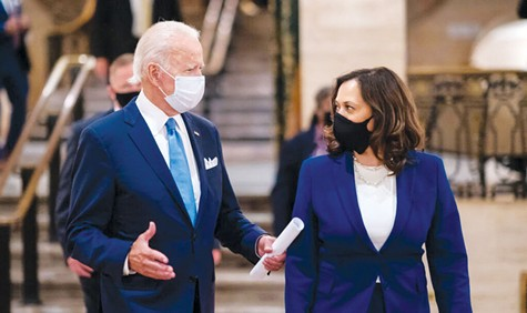 TEAM TURNABOUT: Joe Biden and Kamala Harris have done an about-face when it comes to weed, but they may be the industry's only hope for now.