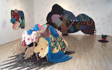 Maria Guzmán Capron's work is made mostly from discounted fabrics.
