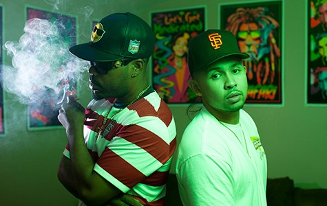 Kool John (L) and P-Lo use the Shmop Compound as their unofficial headquarters and party spot.