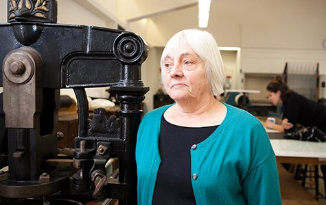 Kathleen Walkup has been teaching book art classes at Mills since 1978.