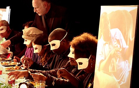 In The Prepared Table, audiences are immersed in a multimedia dining party performance.