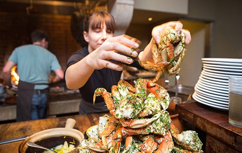 Camino will only serve local Dungeness crabs.