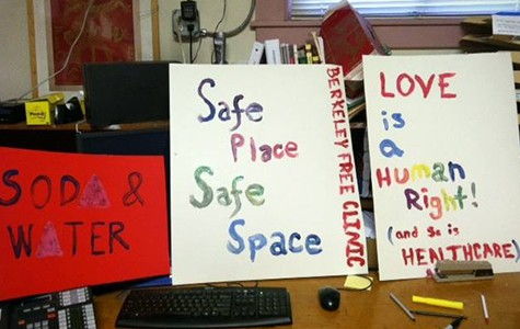 Signs used by the Berkeley Free Clinic.