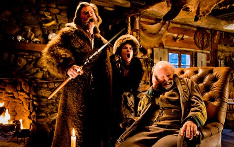 Kurt Russell, Jennifer Jason Leigh, and Bruce Dern star in The Hateful Eight.