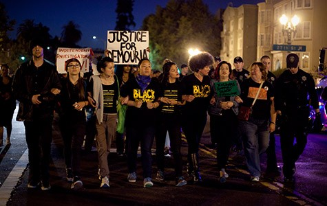 Black Lives Matter protesters marched against police brutality in Oakland in June.