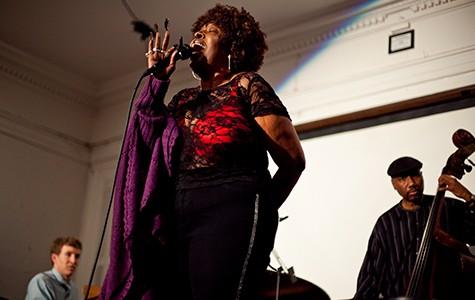 Faye Carol sang during a fundraising benefit last week at Geoffrey's Inner Circle.