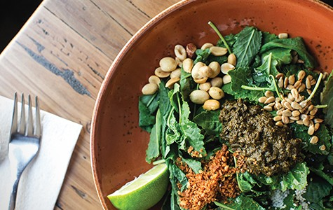 Not your everyday kale salad: the tea leaf kale salad at Teni East Kitchen.