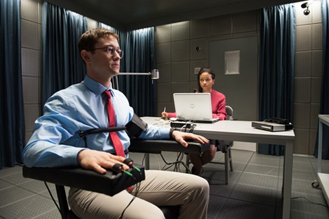Joseph Gordon-Levitt (left) in Snowden.