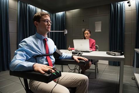 Joseph Gordon-Levitt (left) in Snowden.