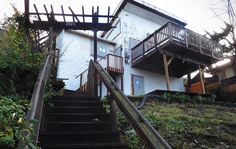 A foreclosed house on Sunkist Drive in Oakland owned by OneWest has fallen into disrepair.