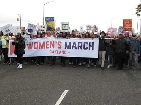 In Oakland, Massive Crowd Of 100,000 Turns Out For Anti-Trump Women's March
