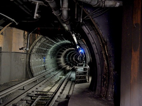 A view into BART's Transbay Tube.