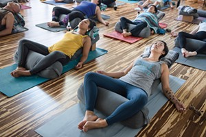 Combine cannabis and yoga at Ganjasana at Ume in Oakland.­ - PHOTO BY ROSA FURNEAUX