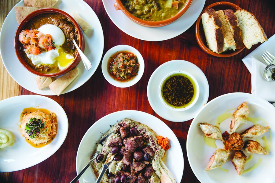 A spread at Saha, one of the participating restaurants for Berkeley Restaurant Week. - ANDRIA LO/FILE PHOTO