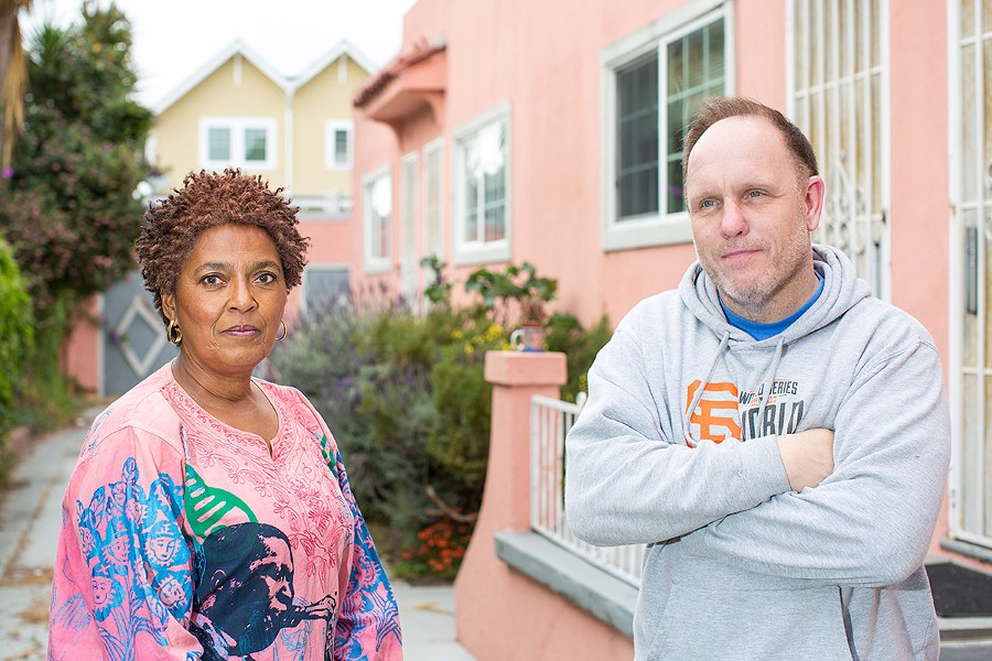 Kendahsi Haley (left) and Richard Wingart contend that the rent hikes are illegal. - FILE PHOTO BY BERT JOHNSON