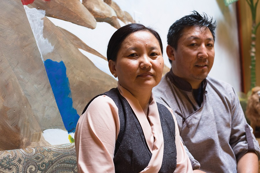 Husband-and-wife team Tsering Lhatso and Jamyang Gyalkha. - PHOTO BY RICHARD LOMIBAO