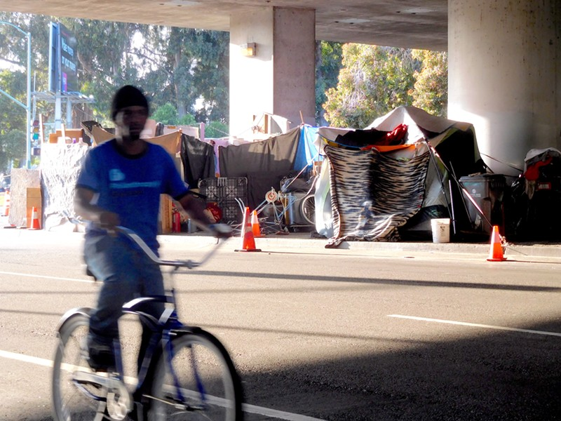 The Northgate camp is one of the biggest in the East Bay, with dozens of residents.