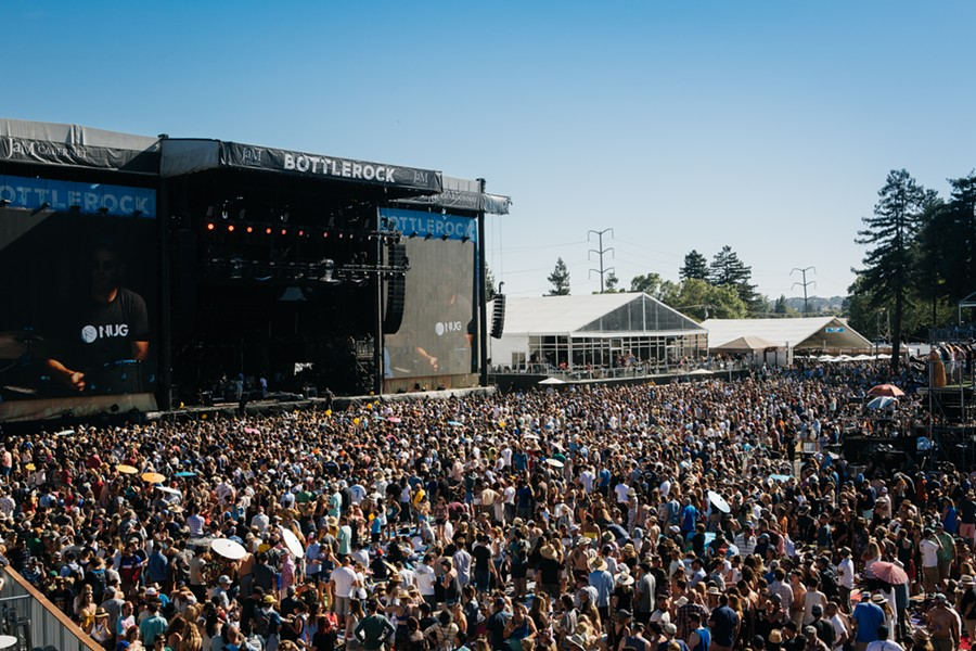 Sunday saw more than 30,000 attendees. - PHOTO COURTESY BOTTLEROCK NAPA VALLEY