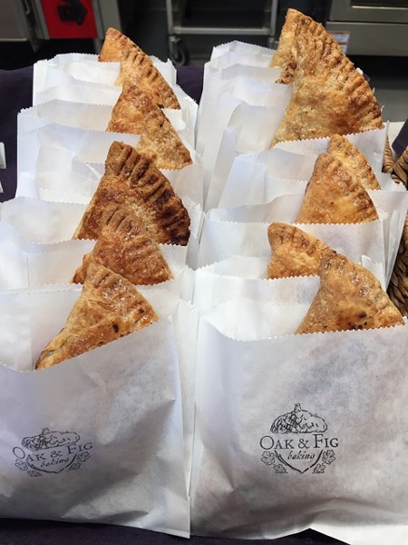 Some of Oak and Fig Baking's savory hand pies feature bacon from the Baconer. - PHOTO COURTESY OF ANDREW LAWRENCE SCHIFF