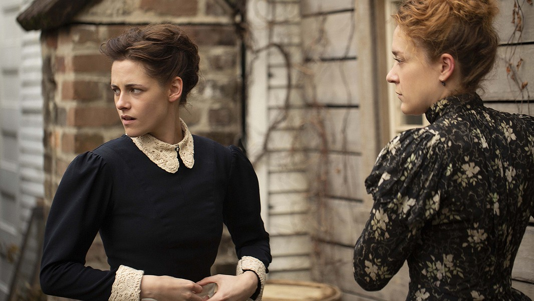 Kristen Stewart (left) and Chloe Sevigny get to know each other in Lizzie.