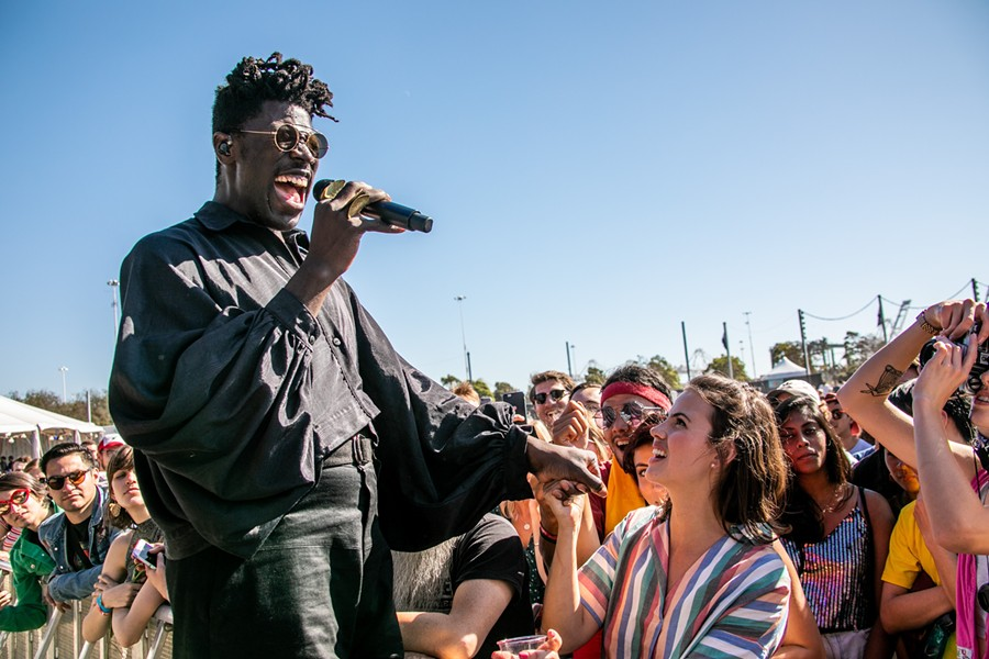 Moses Sumney performed one of the earliest and best sets of the weekend. - JOSH WITHERS