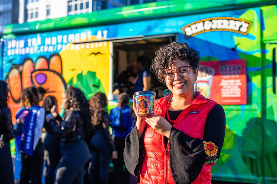 """Rodriguez said that since Trump was elected, """"I've had to be not just making art, but participating in building social movements."""" - PHOTO COURTESY OF BEN & JERRY'S"""