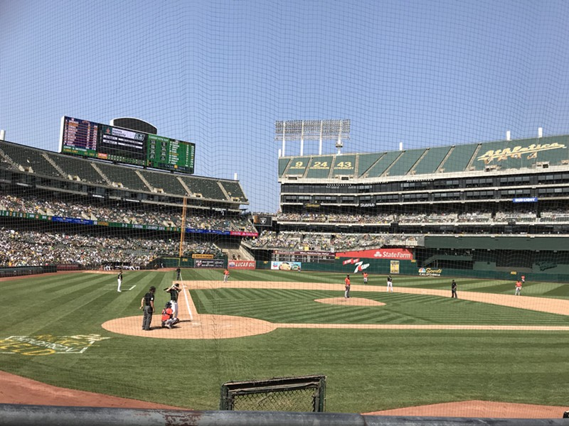 Oakland Athletics vs. Houston Astros on Aug. 18. - PHOTO BY AZUCENA RASILLA