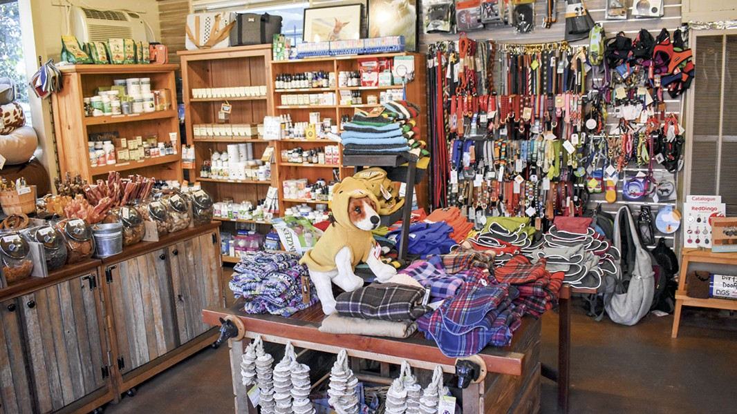 Holistic Hound stocks nutritious dog food in addition to leashes, toys, and more. - PHOTO BY DANIEL LEMPRES