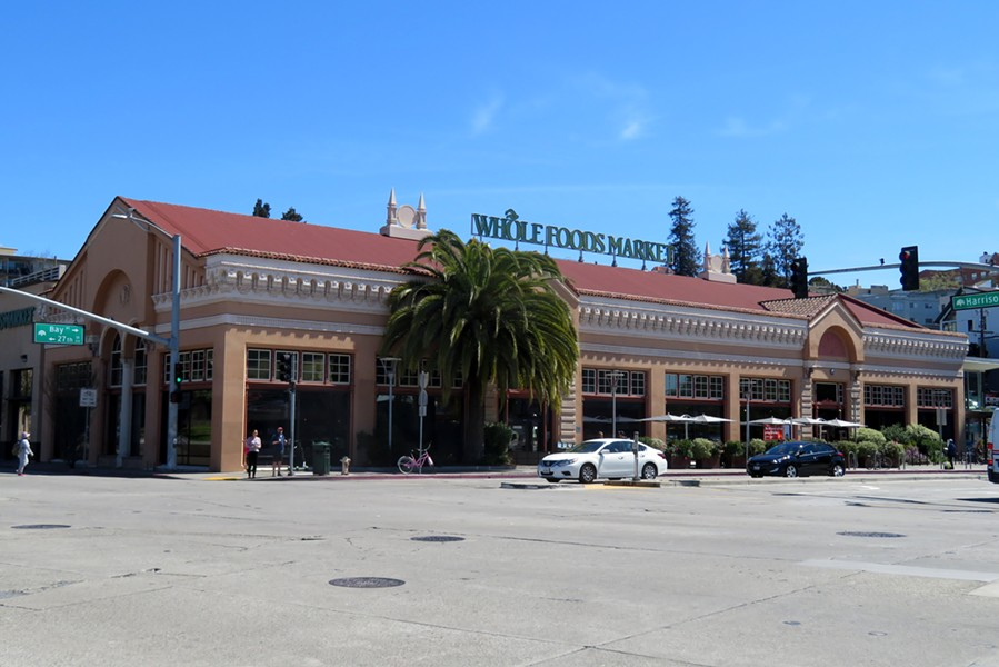 """Protesters held a """"sidewalk fast"""" last Wednesday through Thanksgiving afternoon at the Whole Foods in Oakland. - WIKIMEDIA COMMONS"""