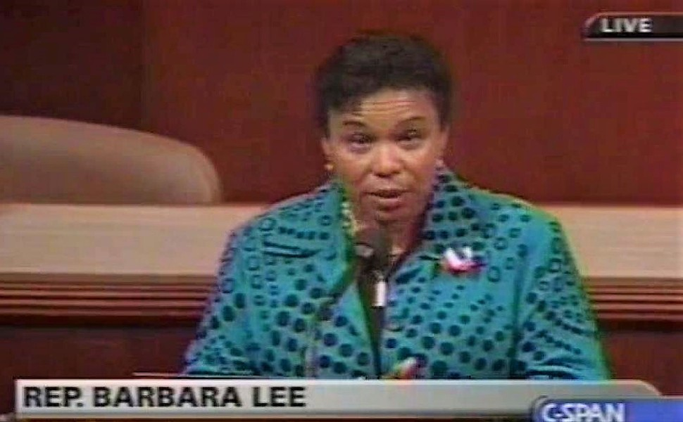 Rep. Barbara Lee during a House floor speech to oppose the 2001 Authorization for Use of Military Force.