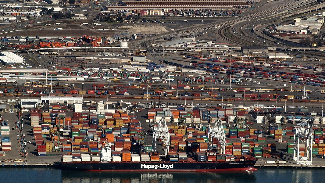 Shipping containers at the Port of Oakland. - FILE PHOTO