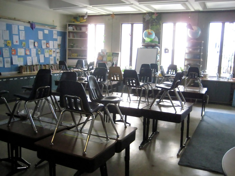 Classrooms will be empty in the East Bay as concerns over the spread of the coronavirus increase. - WIKIMEDIA COMMONS