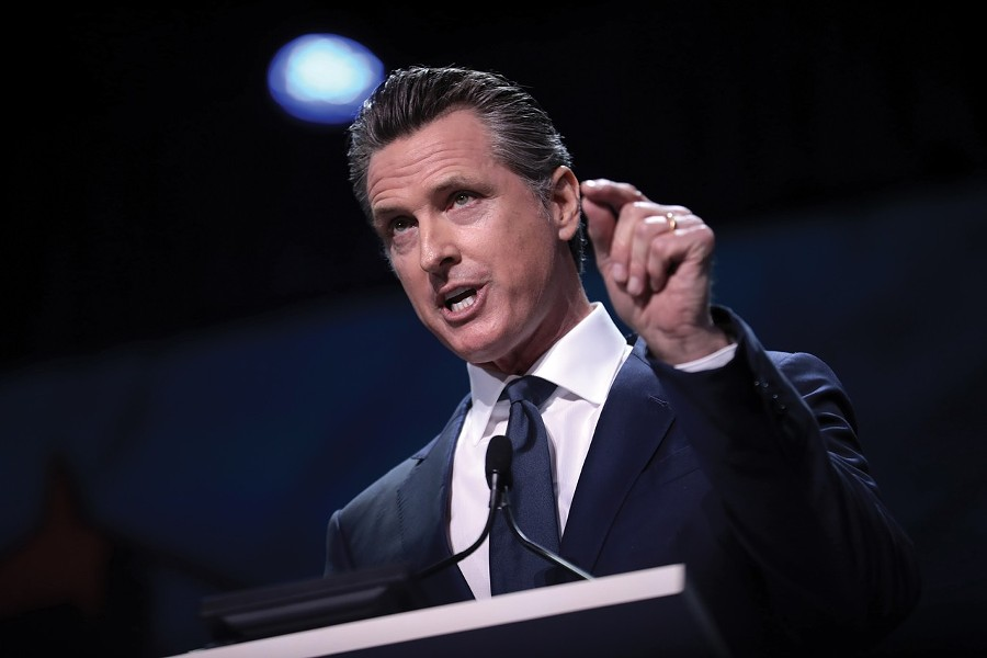 Gov. Gavin Newsom is targeting mid-May for the peak number of covid-19 cases in the state. - GAGE SKIDMORE-CREATIVE COMMONS