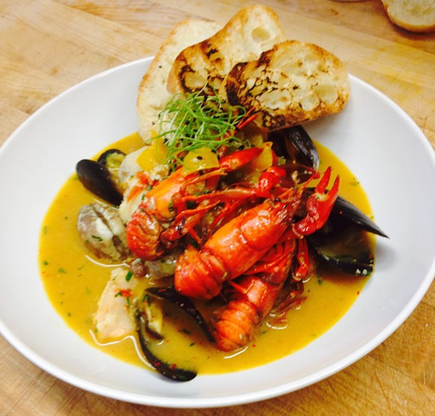Crayfish stew at FuseBOX.