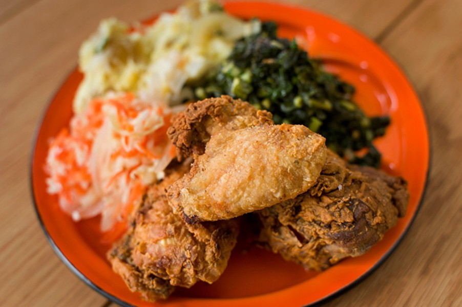 The fried chicken at Miss Ollie's. - CHRIS DUFFEY / FILE PHOTO