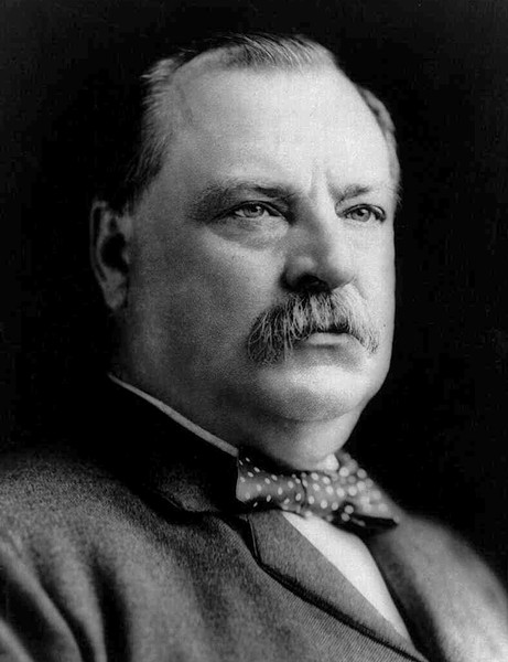 President Grover Cleveland defended 19th century robber barons who didn't want to pay decent wages and benefits.