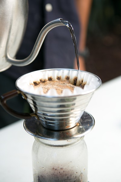 The pourover method extracts the full flavor of coffee. - BERT JOHNSON