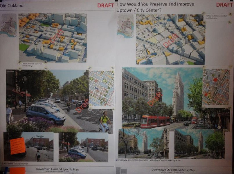 Draft images from the Downtown planning process.