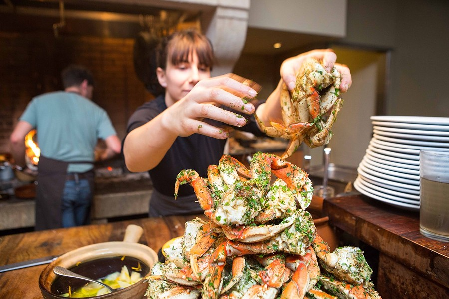 The most popular item at Camino is the grilled Dungeness crab. - BERT JOHNSON/FILE PHOTO