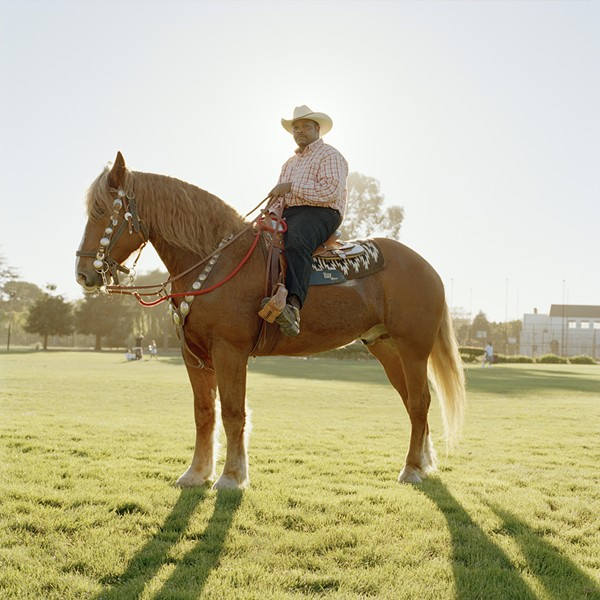 """Urban Cowboy. Richmond, 2010"" from Paccarick Orue's collection, There is Nothing Beautiful Around Here."