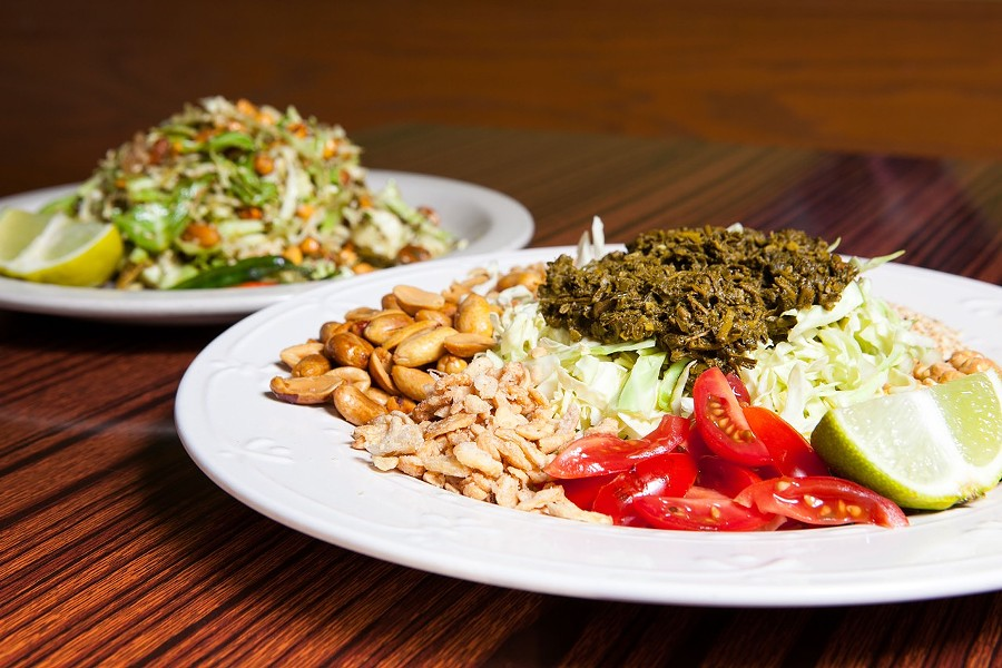 Grocery Cafe's funky tea leaf salad. - BERT JOHNSON/FILE PHOTO