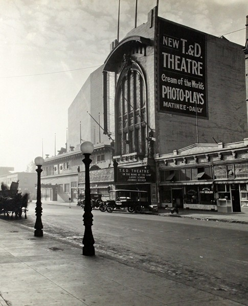 The T&D Theatre on 11th Street in Oakland was a large and grand movie theater. - COURTESY OF OAKLAND PUBLIC LIBRARY