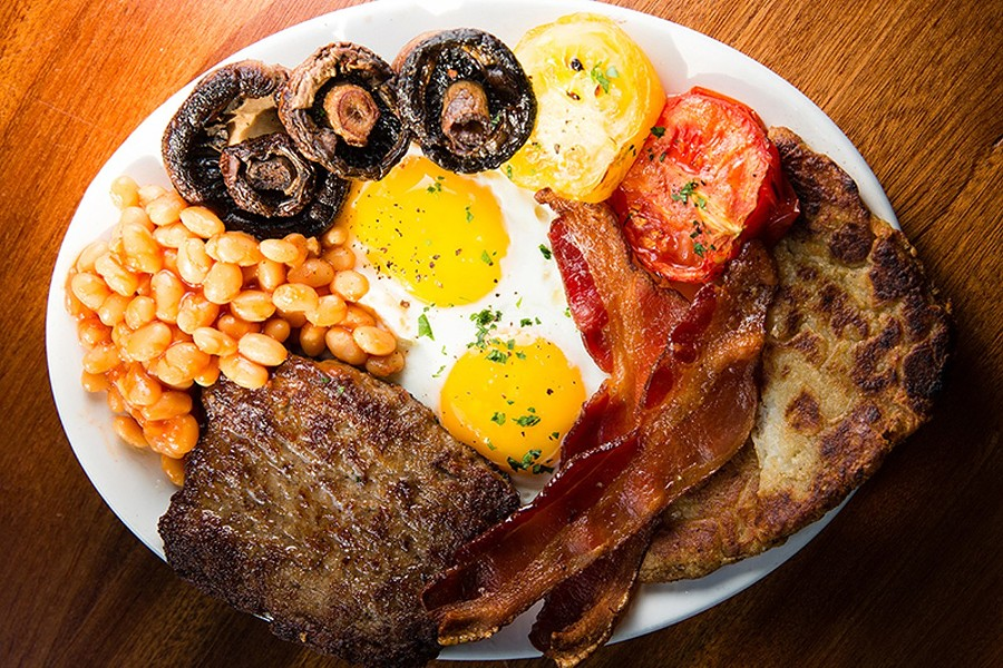 Full English breakfast at CommonWealth Micropub. - STEPHEN LOEWINSOHN/FILE PHOTO