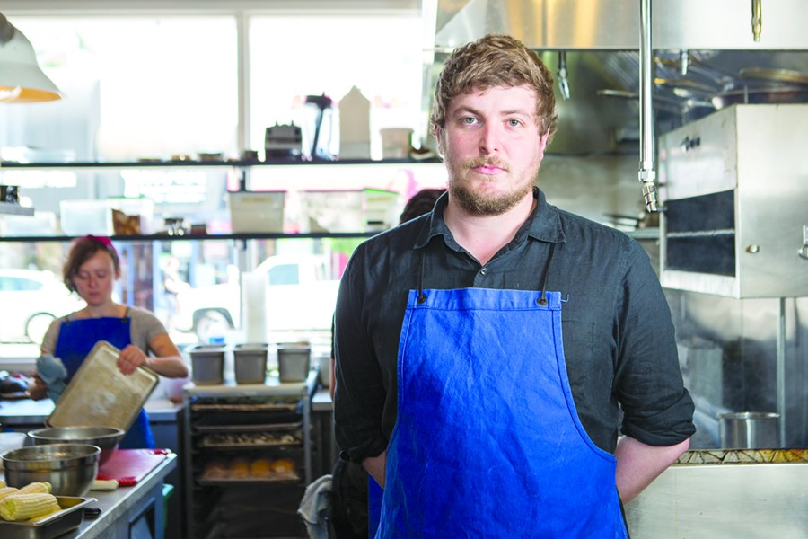 KronnerBurger chef Chris Kronner. - BERT JOHNSON
