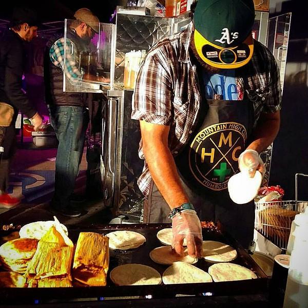 Raul Medina's vegan taco cart.