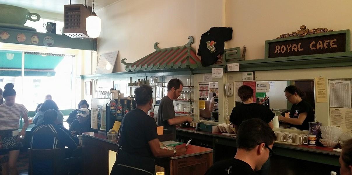 The counter at Mama's Royal (via Facebook).