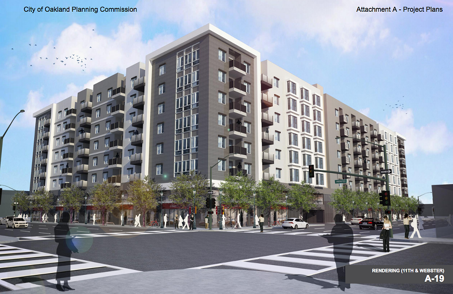 The W12 Project's larger building would consist of 339 units of all market-rate housing. - OAKLAND PLANNING COMMISSION